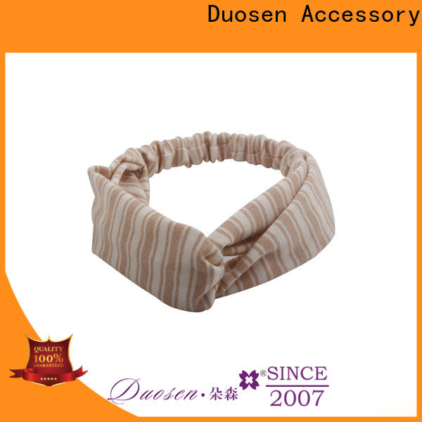 Duosen Accessory New cheap fabric headbands factory for sports