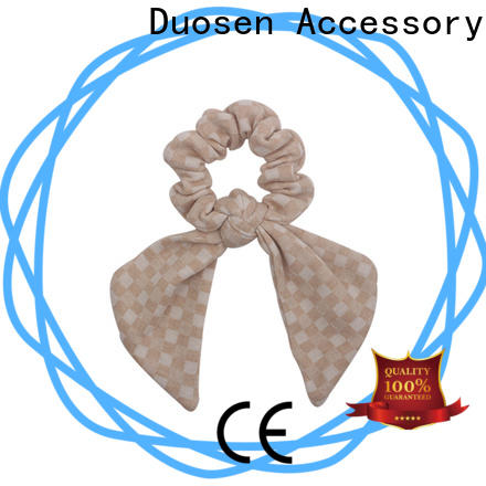 Duosen Accessory Top fabric hair tie for business for women