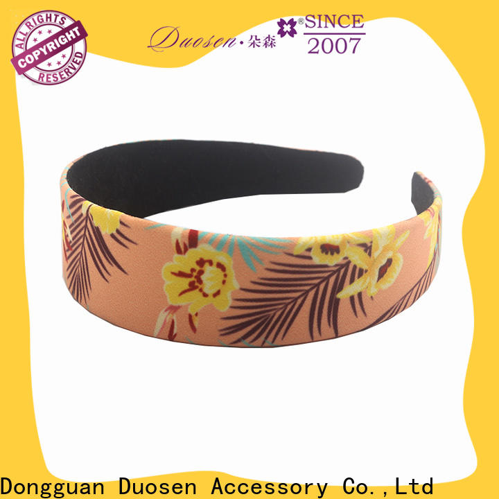 Duosen Accessory Best cotton turban headband for business for sports