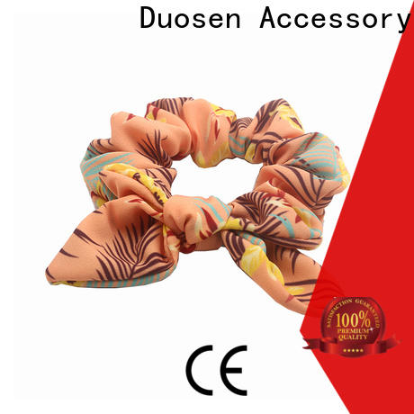Duosen Accessory color fabric hair tie factory for women