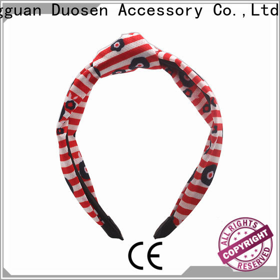 Duosen Accessory Custom fabric hair bands for business for dancer