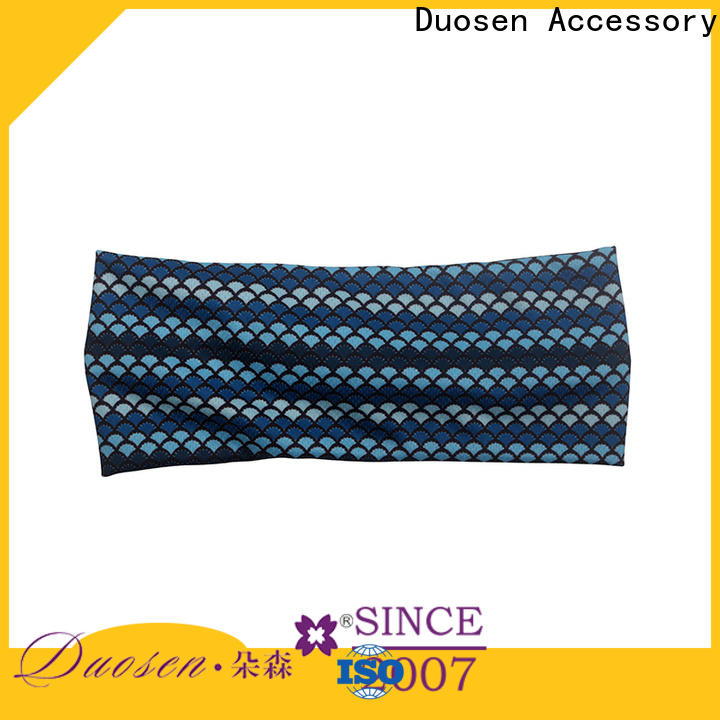 Duosen Accessory Latest twisted fabric headband factory for prom