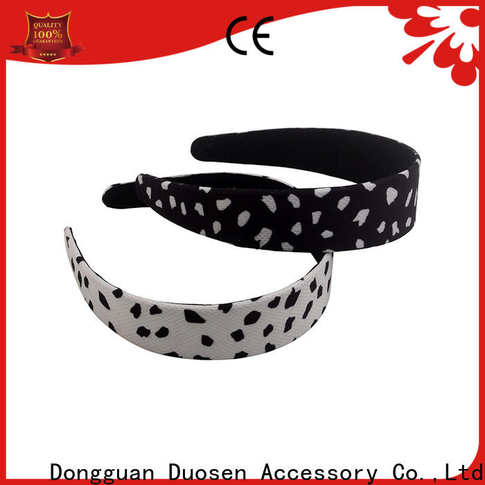 Duosen Accessory flamingo fabric elastic headbands factory for sports