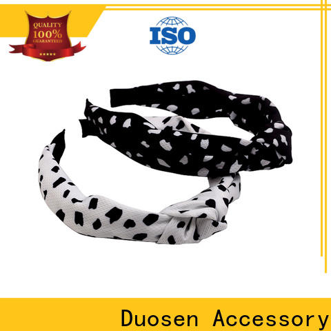 Duosen Accessory covered fabric headbands wholesale Suppliers for running