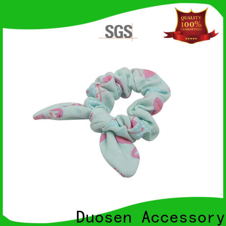Duosen Accessory Custom fabric scrunchies for business for daily life