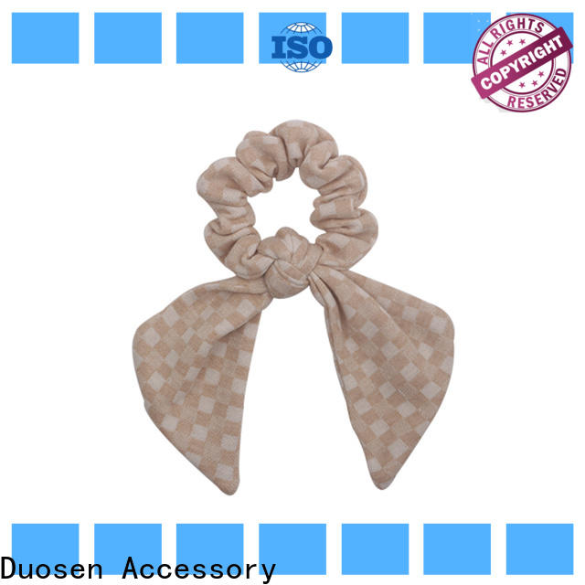 Duosen Accessory High-quality fabric hair tie Supply for women