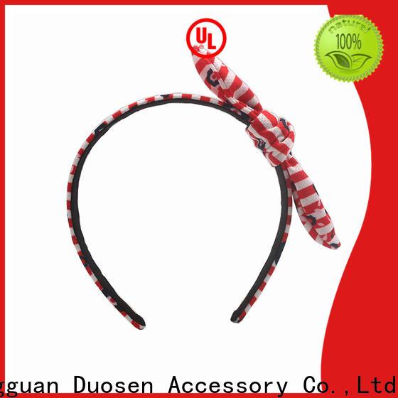 Duosen Accessory hairbands fabric bow headband factory for sports