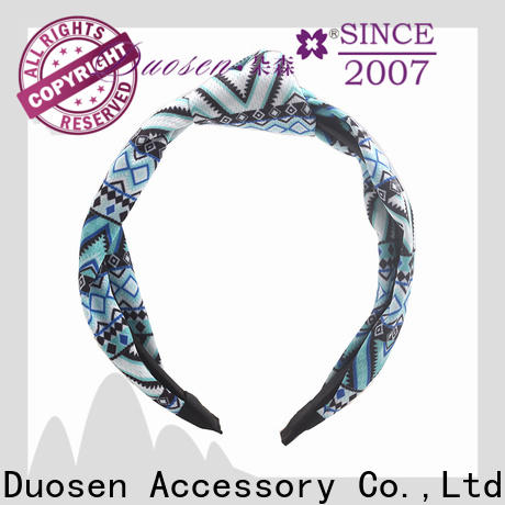 Duosen Accessory hairbands recycled fabric hairband Suppliers for prom