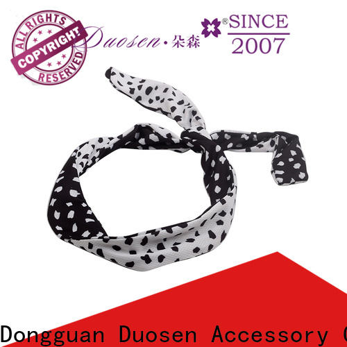 New wire fabric headband black for business for running