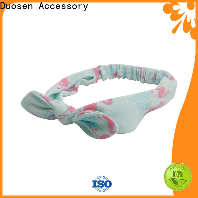 Duosen Accessory knotted fabric alice band factory for running