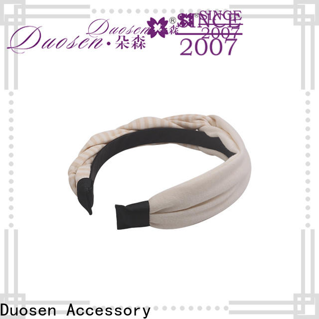 Duosen Accessory Best recycled fabric hairband Suppliers for prom