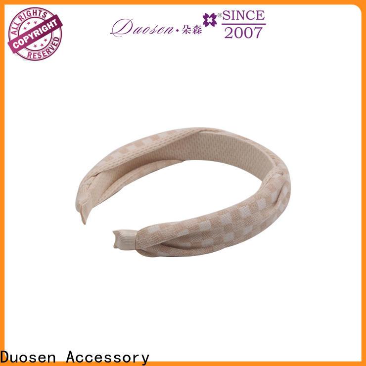 Duosen Accessory spot girls fabric headbands Suppliers for running