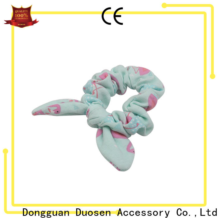 Duosen Accessory tie fabric hair tie manufacturers for girls