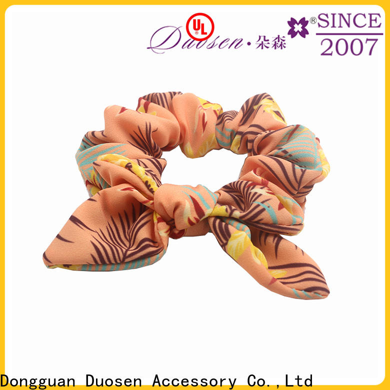 Duosen Accessory Best fabric scrunchies manufacturers for girls