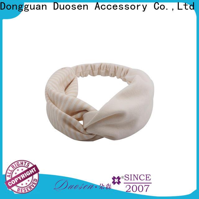Duosen Accessory scrunch fabric bow headband Supply for daily Life