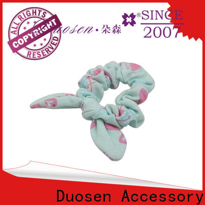Duosen Accessory recycled fabric scrunchies for business for women
