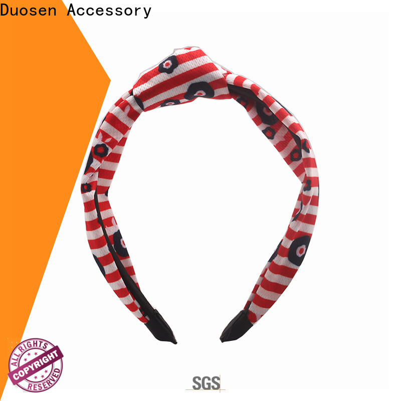 Duosen Accessory New cheap fabric headbands manufacturers for sports