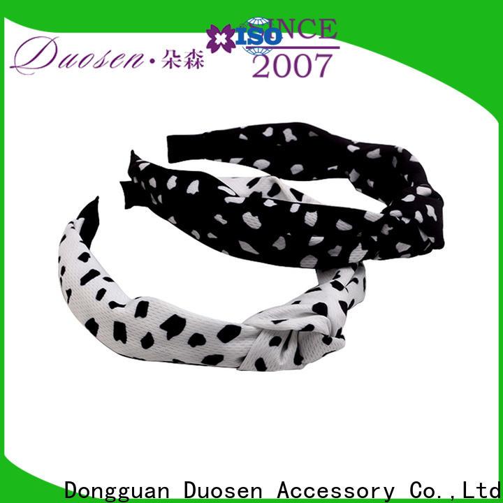 Duosen Accessory New fabric elastic headbands factory for daily Life