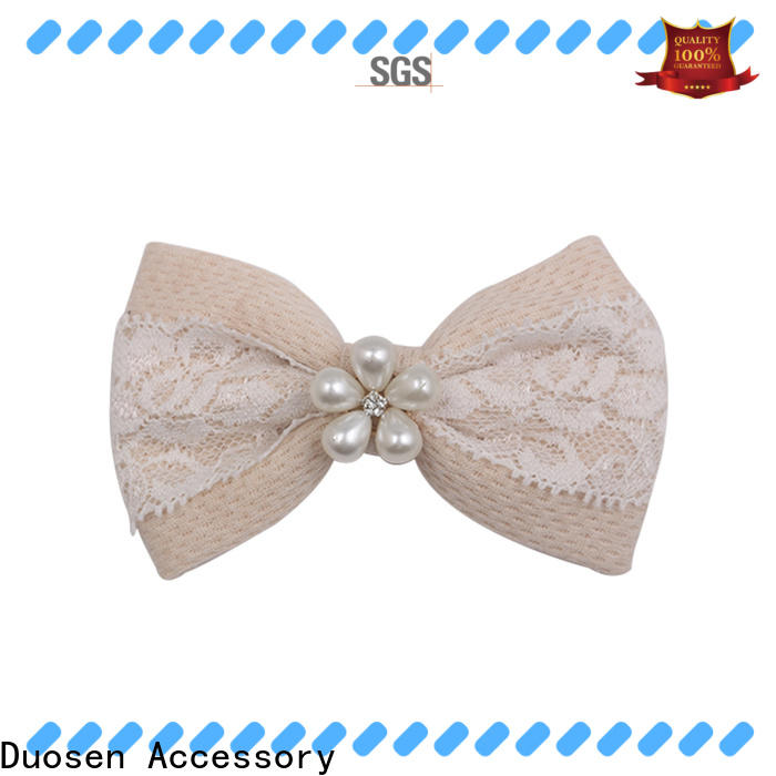 Duosen Accessory New fabric hair bow instructions company for daily life