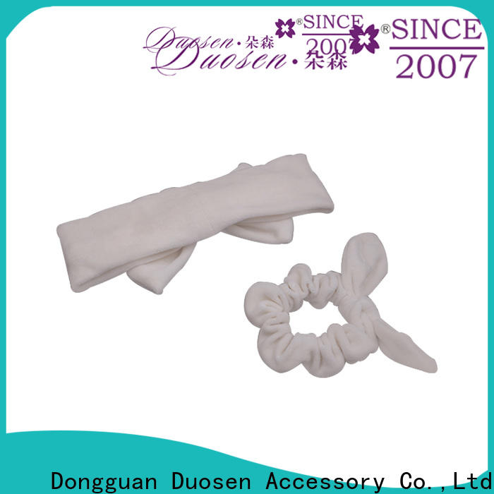 Duosen Accessory High-quality organic fabric bow headband Supply for daily Life