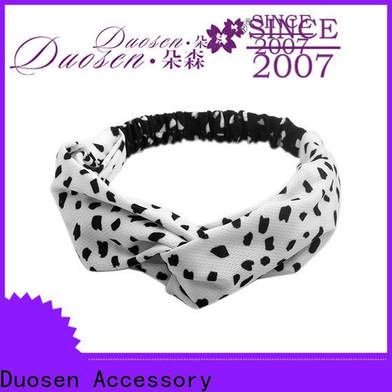 Duosen Accessory Custom twisted fabric headband company for dancer