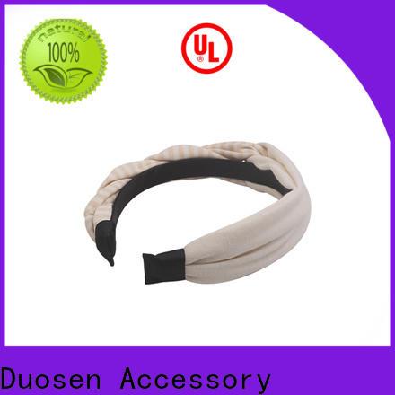 Duosen Accessory design girls fabric headbands Supply for sports