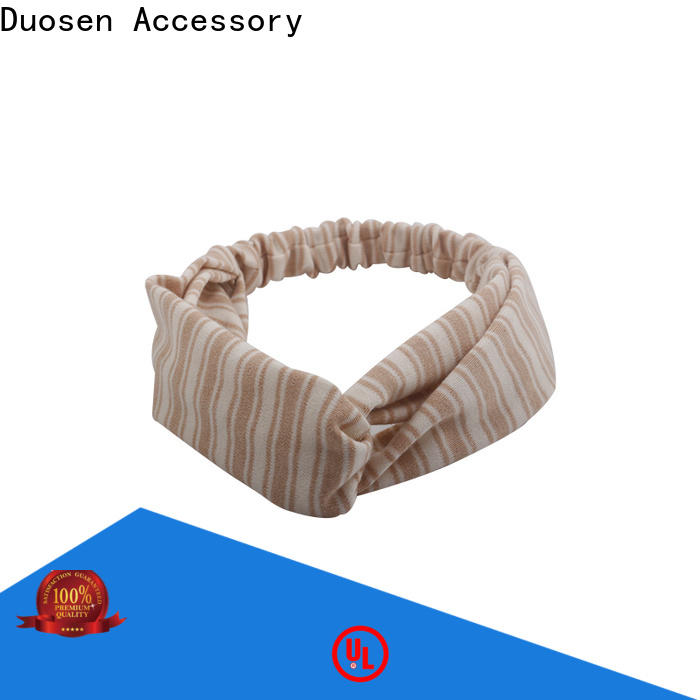 Duosen Accessory spot fabric hair bands company for daily Life