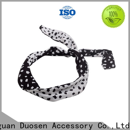 Duosen Accessory recycled cheap fabric headbands Suppliers for party