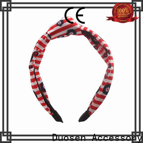 Duosen Accessory soft fabric tie headbands factory for prom