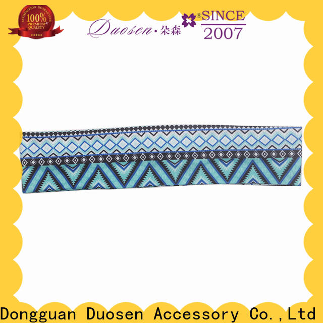 Duosen Accessory flower fabric headbands wholesale company for dancer
