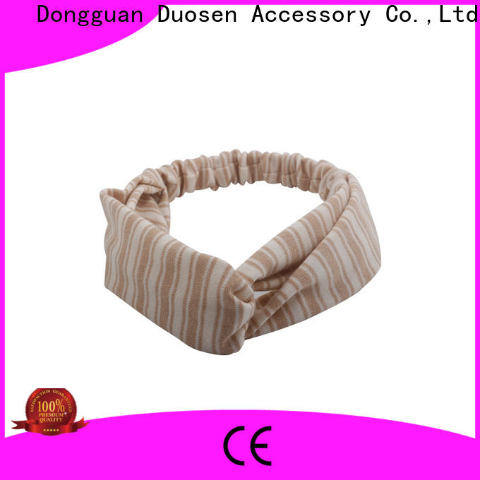 Duosen Accessory knotted cheap fabric headbands for business for running