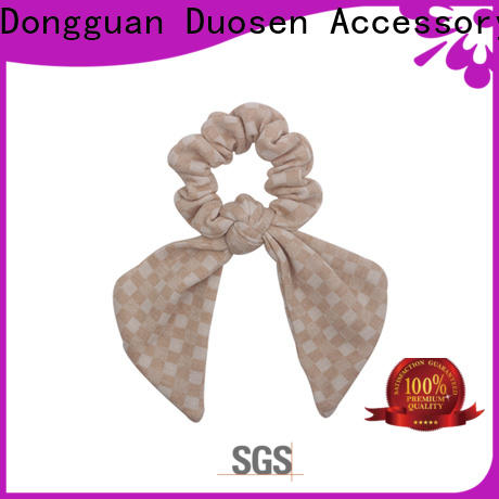 Duosen Accessory High-quality bow hair scrunchie for business for women