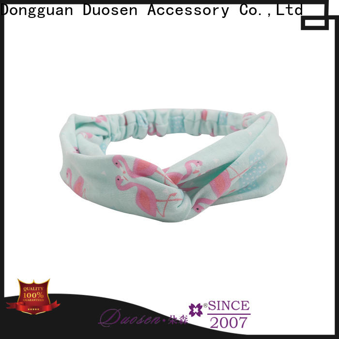 Duosen Accessory New organic fabric hairband for business for dancer
