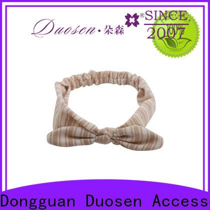 Duosen Accessory flower fabric tie headbands company for daily Life