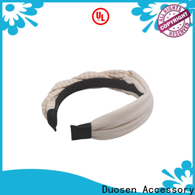 Duosen Accessory High-quality fabric bow headband factory for party