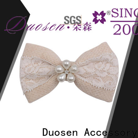 Duosen Accessory recycled how to make fabric flower hair clips factory for women
