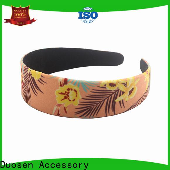 Duosen Accessory Wholesale cotton turban headband manufacturers for sports
