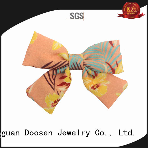 organic fabric girls hair clip geometric Bulk Buy bow Duosen Accessory