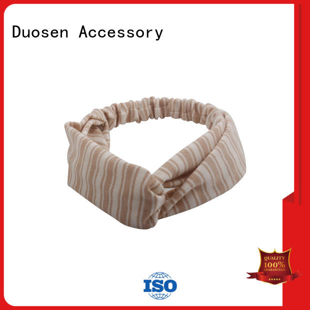 Duosen Accessory eco-friendly organic fabric hairband supplier for daily Life