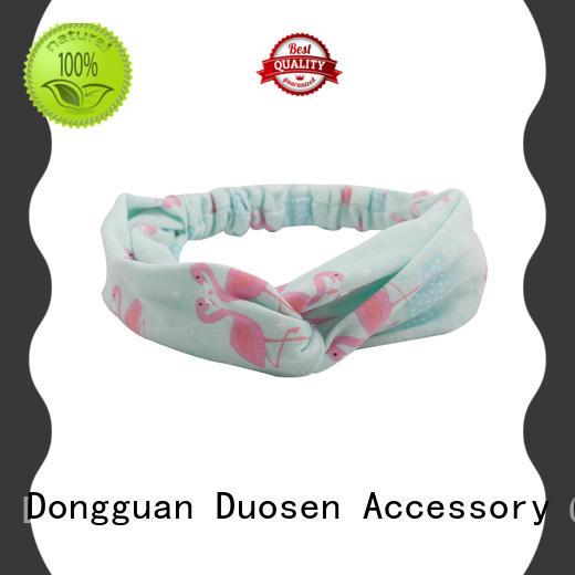 charming organic fabric bow headband fresh series for sports