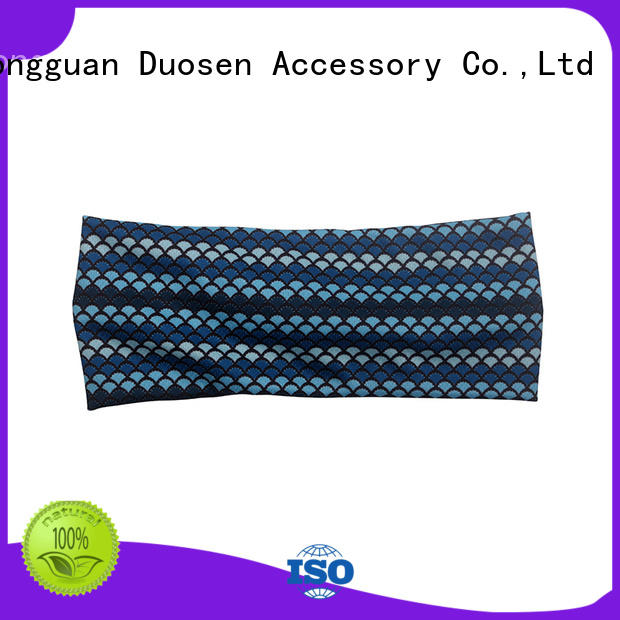 Duosen Accessory knots fabric bow headband for business for running