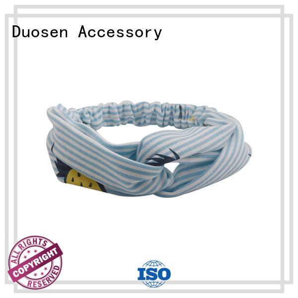 Duosen Accessory pineapple cotton turban headband Supply for daily Life