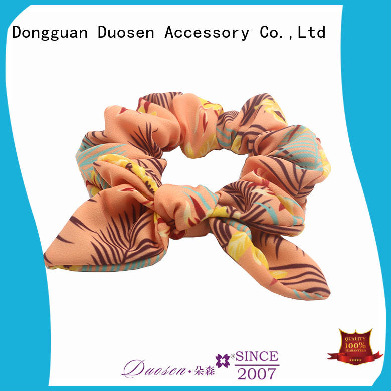 Wholesale fabric scrunchies eco factory for girls