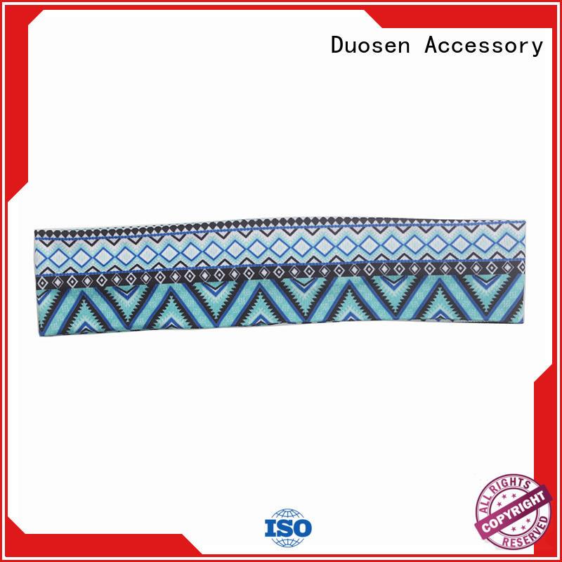 Duosen Accessory sides organic fabric bow headband Supply for dancer