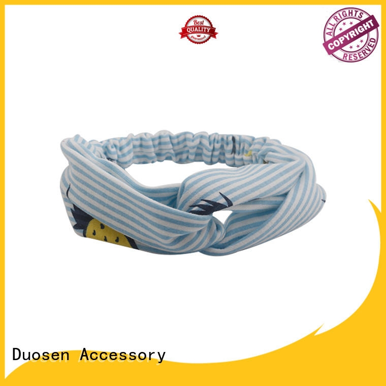 Duosen Accessory convinent fabric wrapped headbands flowers for running