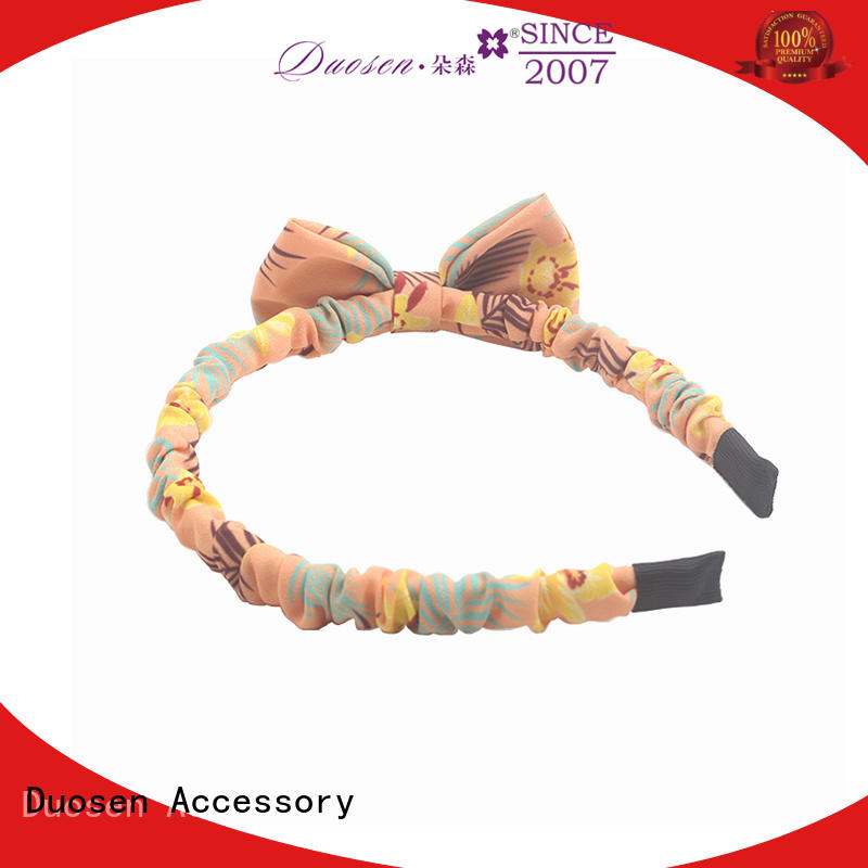 Duosen Accessory Wholesale cotton turban headband Supply for dancer