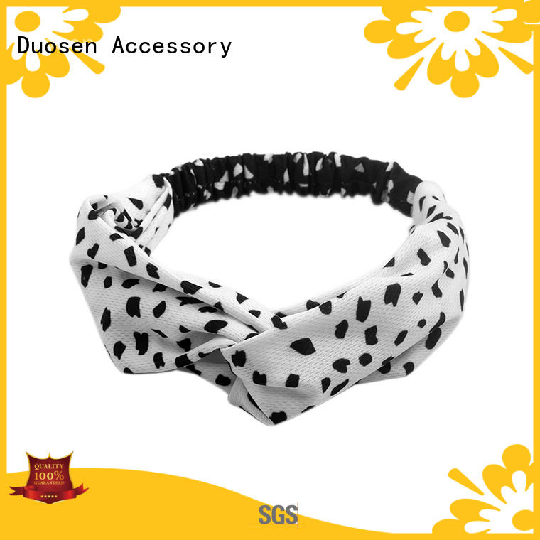 Duosen Accessory eco-friendly twisted fabric headband manufacturer for sports