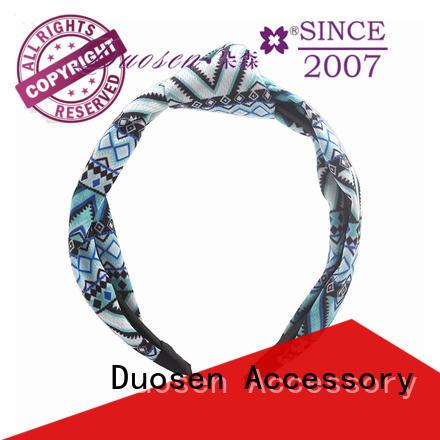 Duosen Accessory cross fabric knot headband supplier for prom