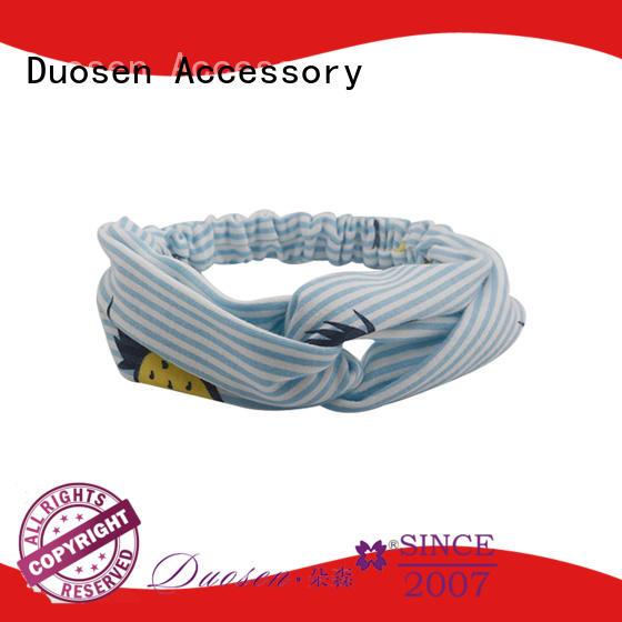 Duosen Accessory OEM recycled fabric hairband with regular use for party