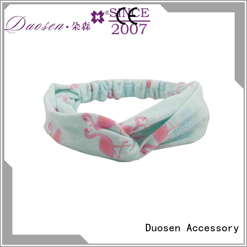 Duosen Accessory wave fabric alice band manufacturers for daily Life